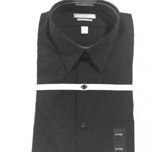 Van Heusen Black, Fitted, long sleeve dress shirt.